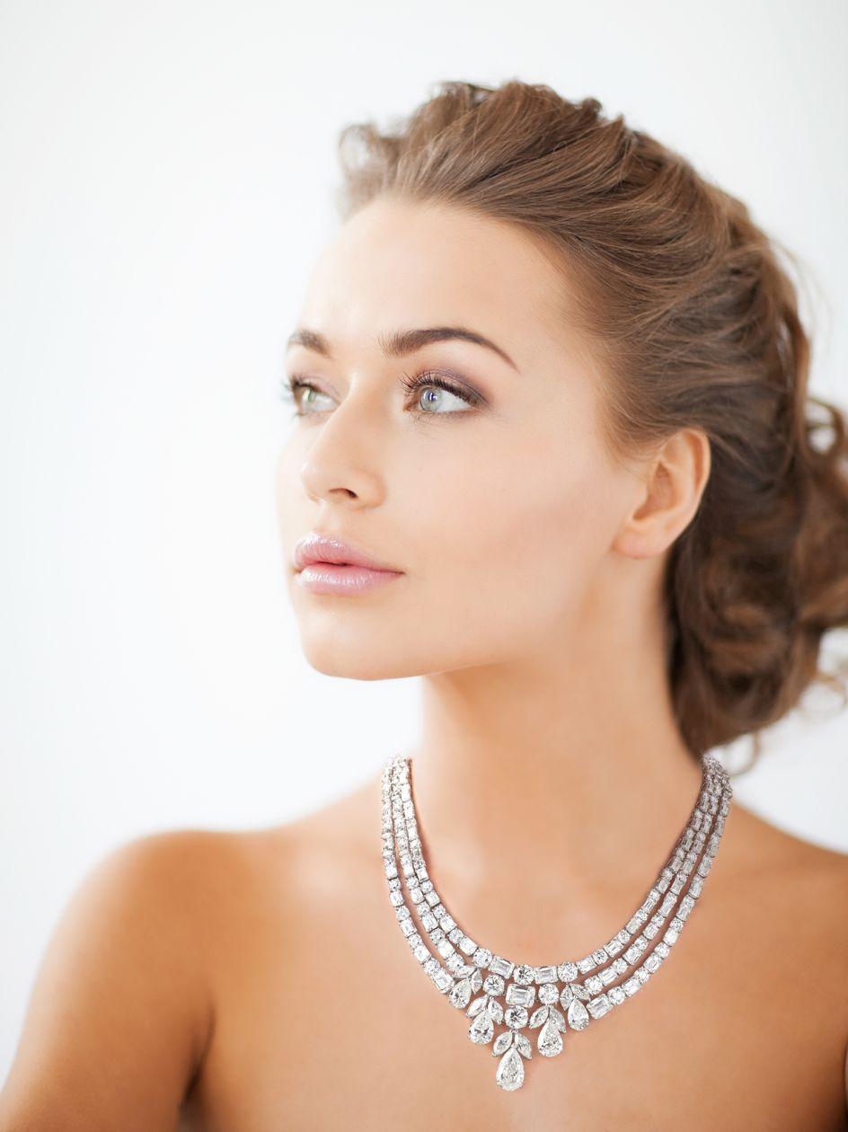 Diamond Necklace Worn